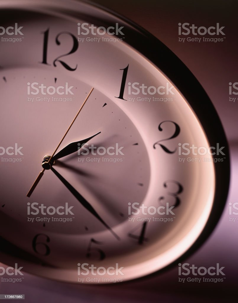 Night Time Clock royalty-free stock photo