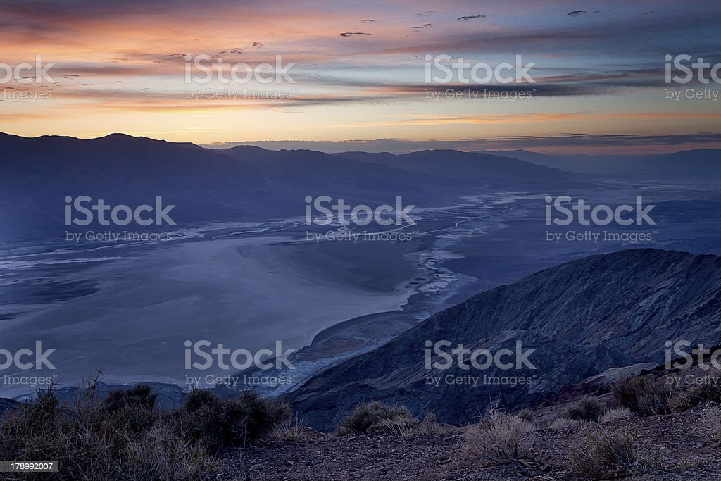 Night time clouds in Death Valley royalty-free stock photo