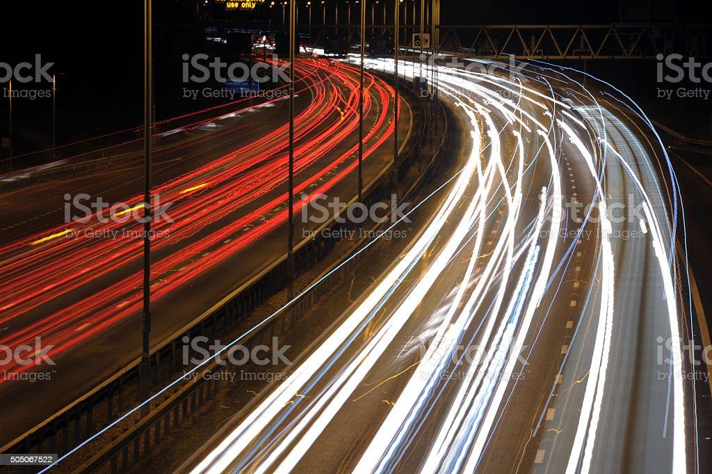 Night Time Commute - Stock Photo stock photo