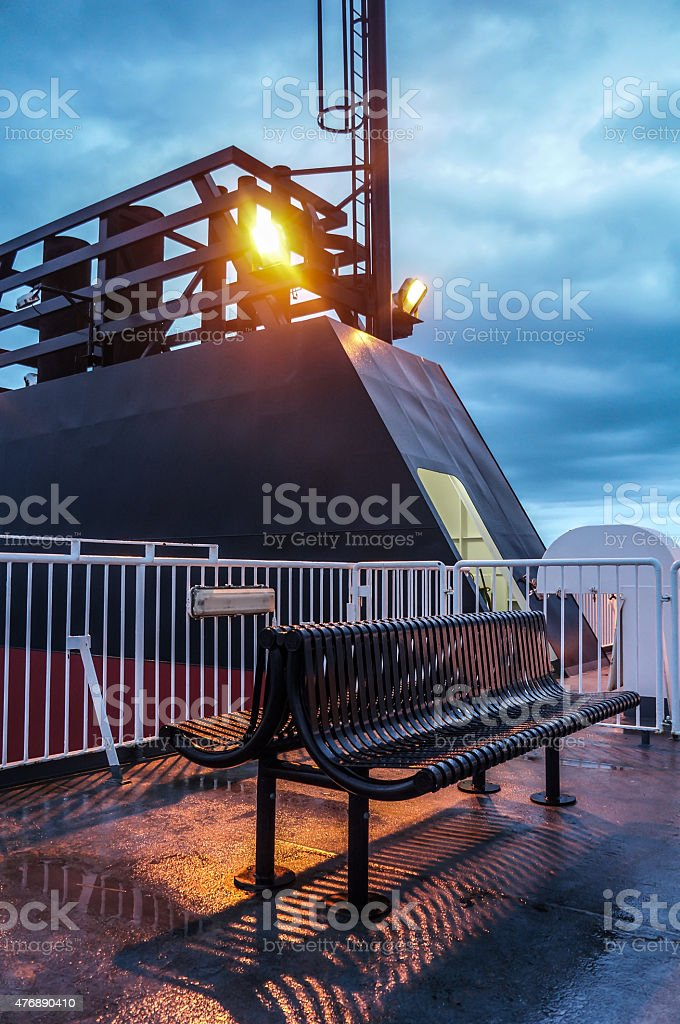 Night Time Ferry stock photo