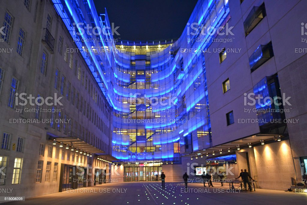 BBC night time stock photo