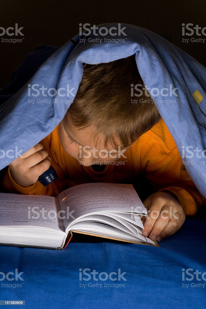 Night time reading royalty-free stock photo
