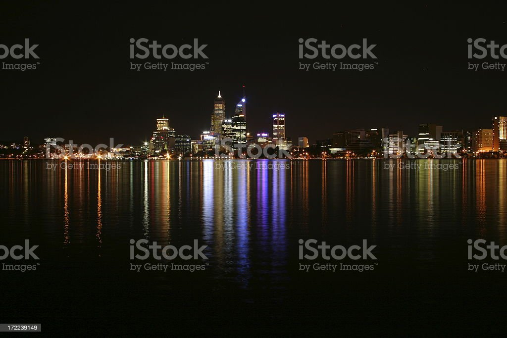 Night time reflections 3 stock photo
