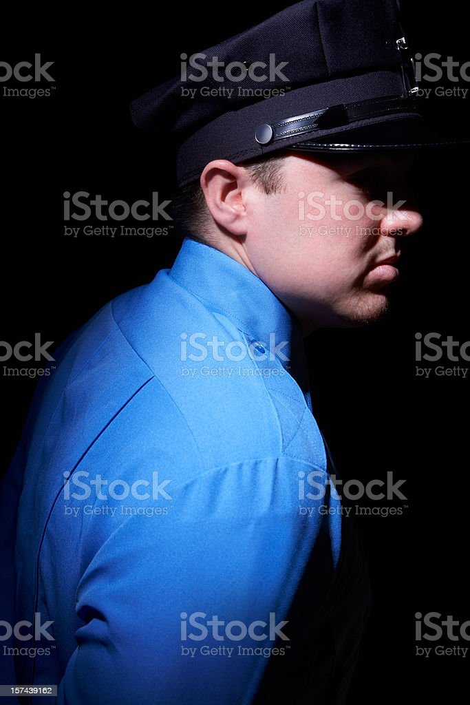 night time security guard royalty-free stock photo