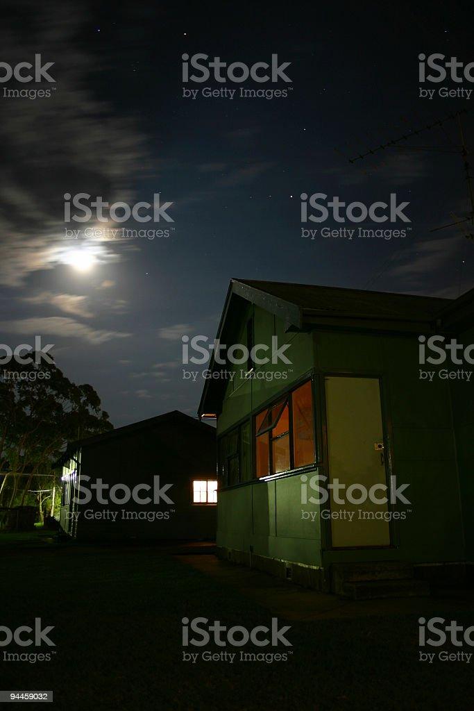 Night time sky stock photo