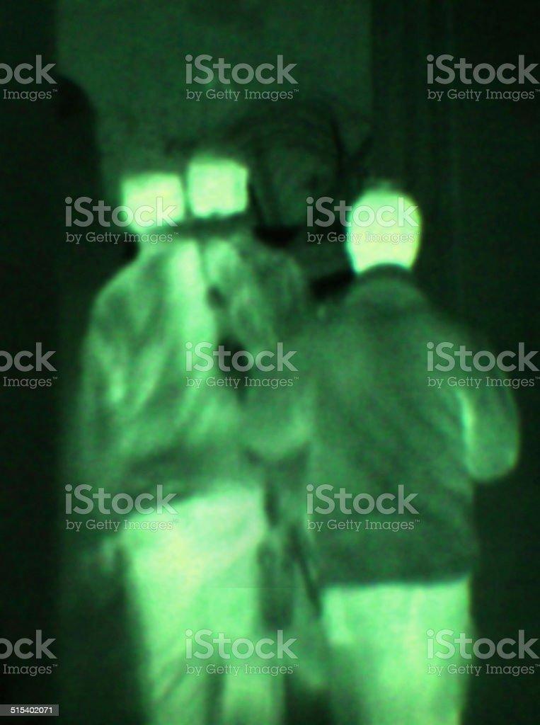 Night time training - Military Life stock photo