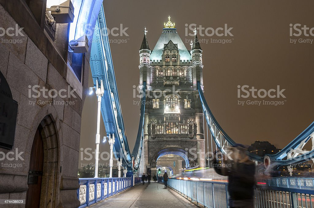 Night Time View Of Tower Bridge In London, England royalty-free stock photo