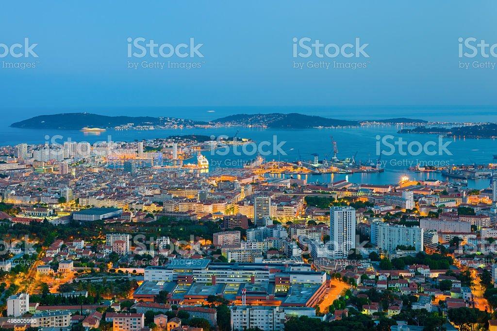 Night Toulon stock photo