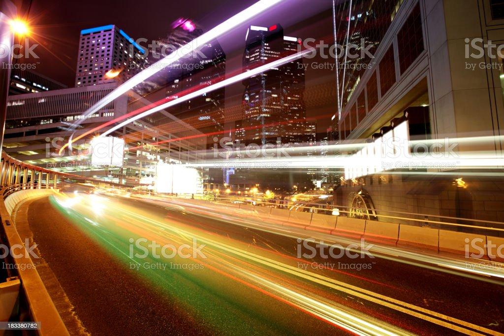 Night Traffic Hong Kong stock photo