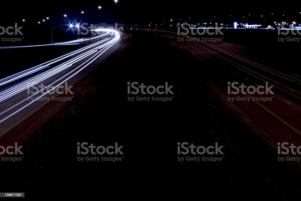 night traffic royalty-free stock photo