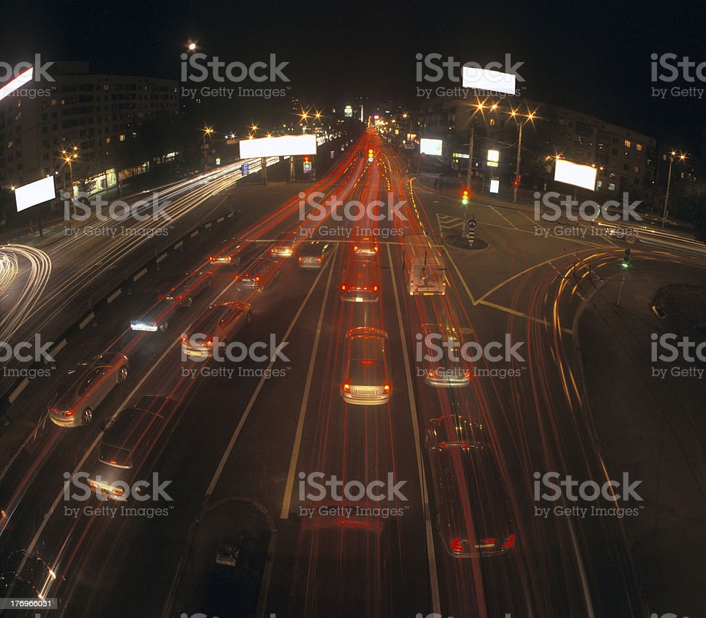 Night traffic. royalty-free stock photo