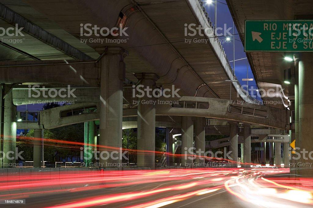 night traffic royalty-free stock photo