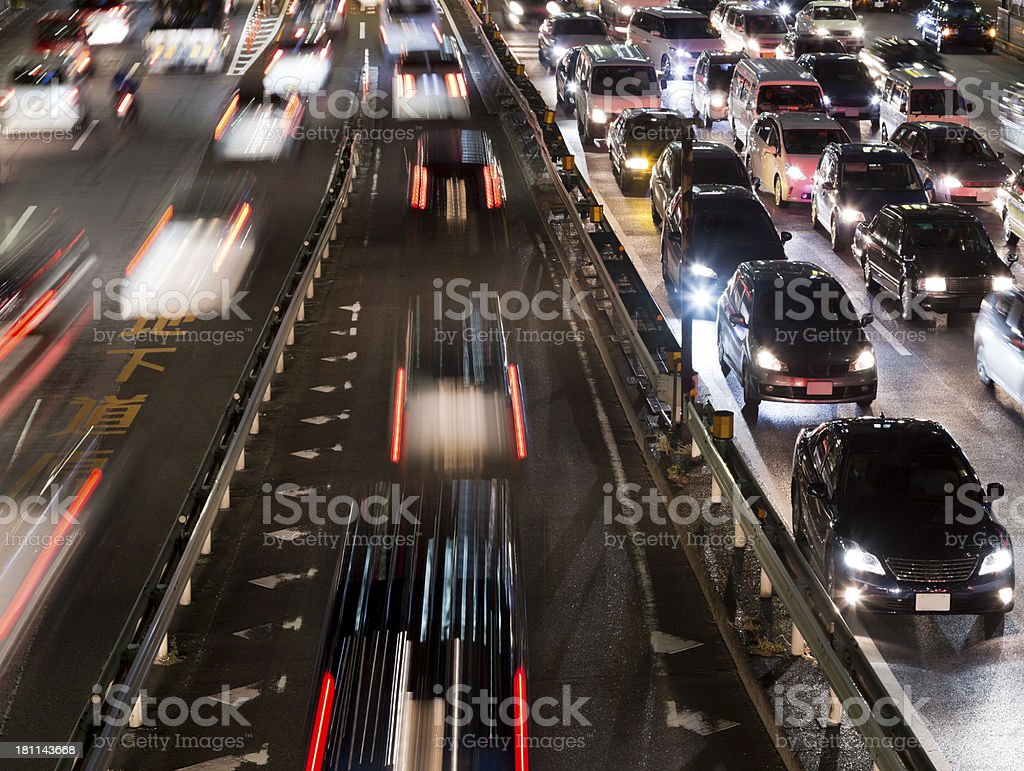 Night Traffic Scenery royalty-free stock photo
