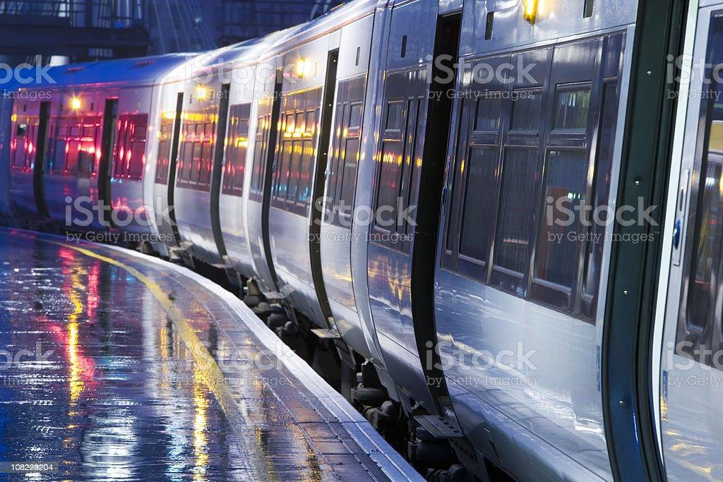 Night Train, London, England stock photo