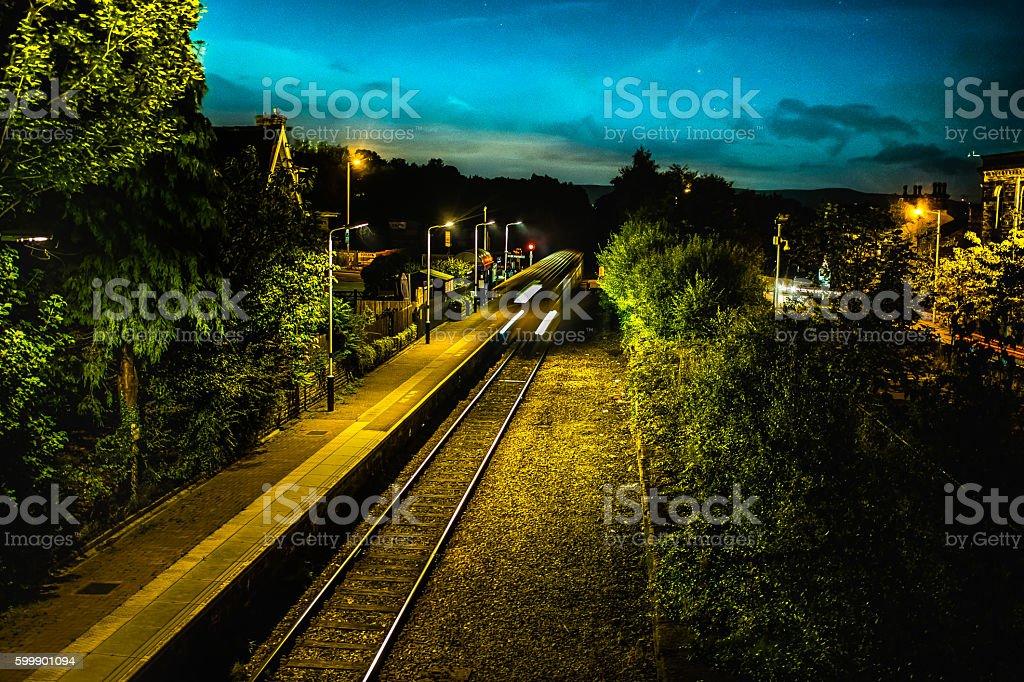 Night Train stock photo
