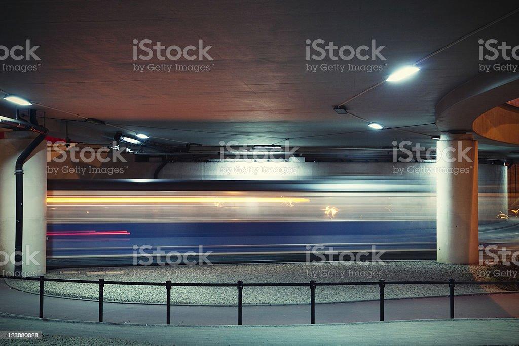 Night tram royalty-free stock photo