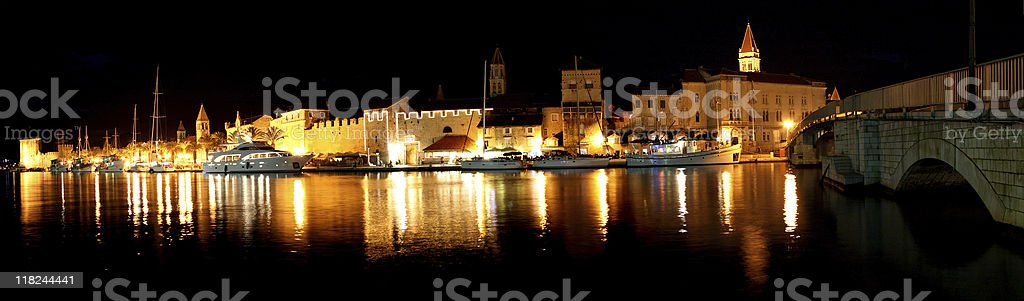 Night Trogir royalty-free stock photo