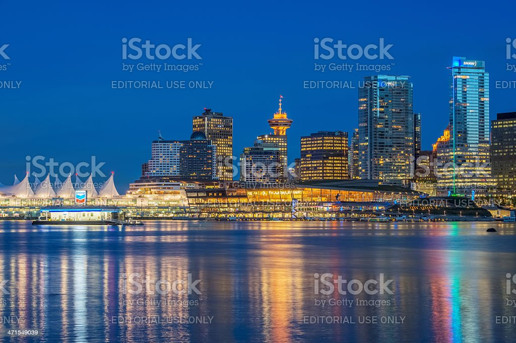 Night Vancouver stock photo