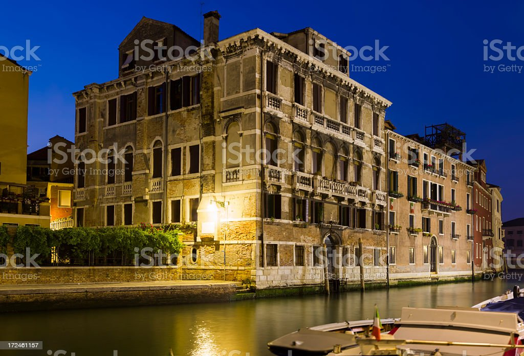 Night Venice royalty-free stock photo