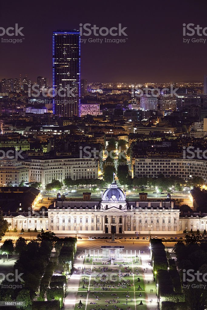 Night view from the Eiffel Tower royalty-free stock photo