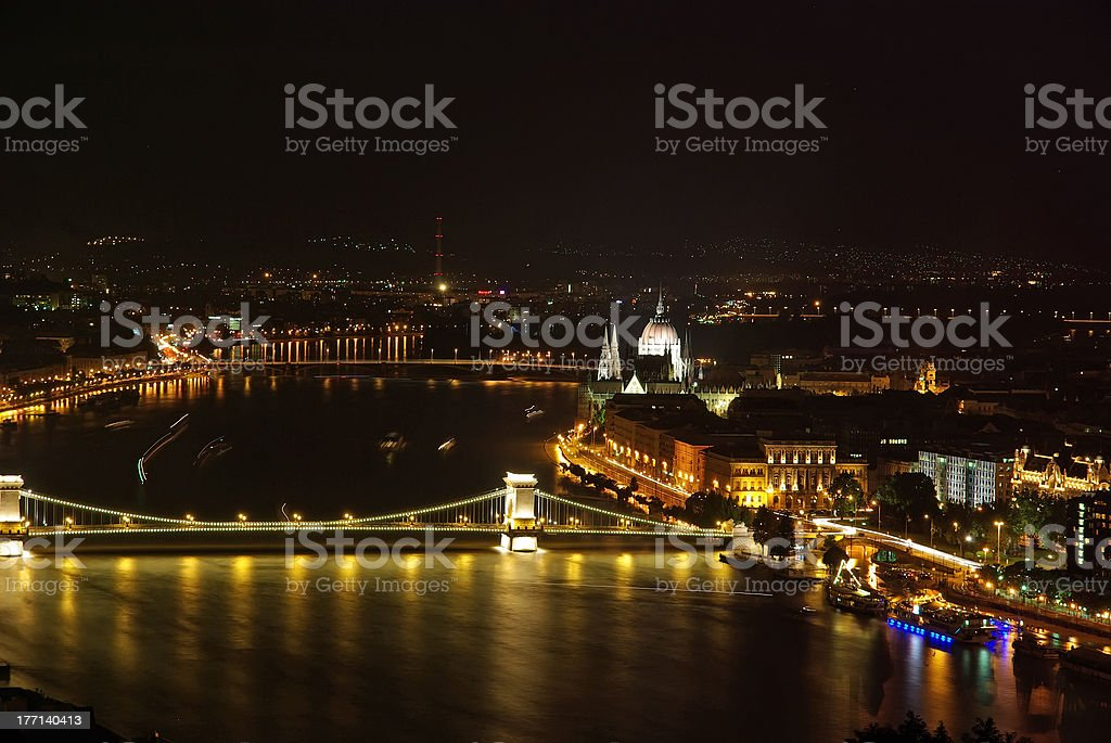 Night view in Budapest stock photo