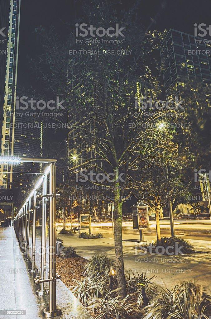 Night View of Brickell, Miami stock photo