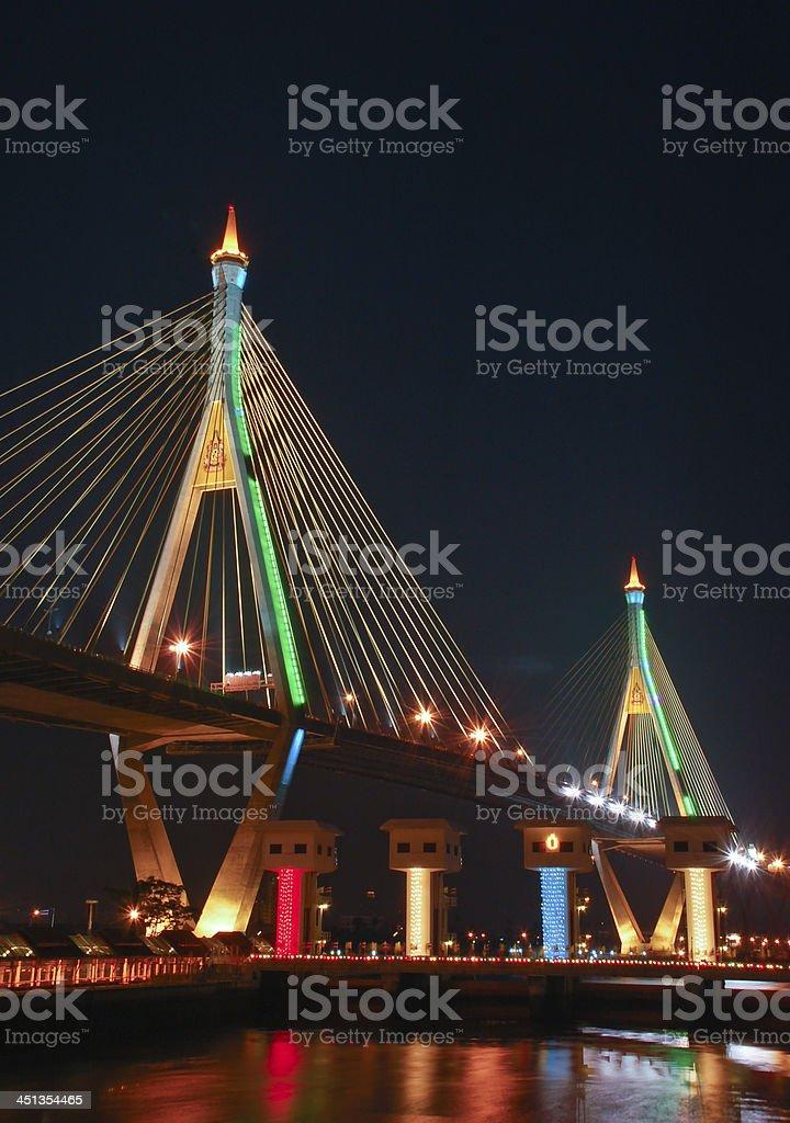 Night view of bridge royalty-free stock photo