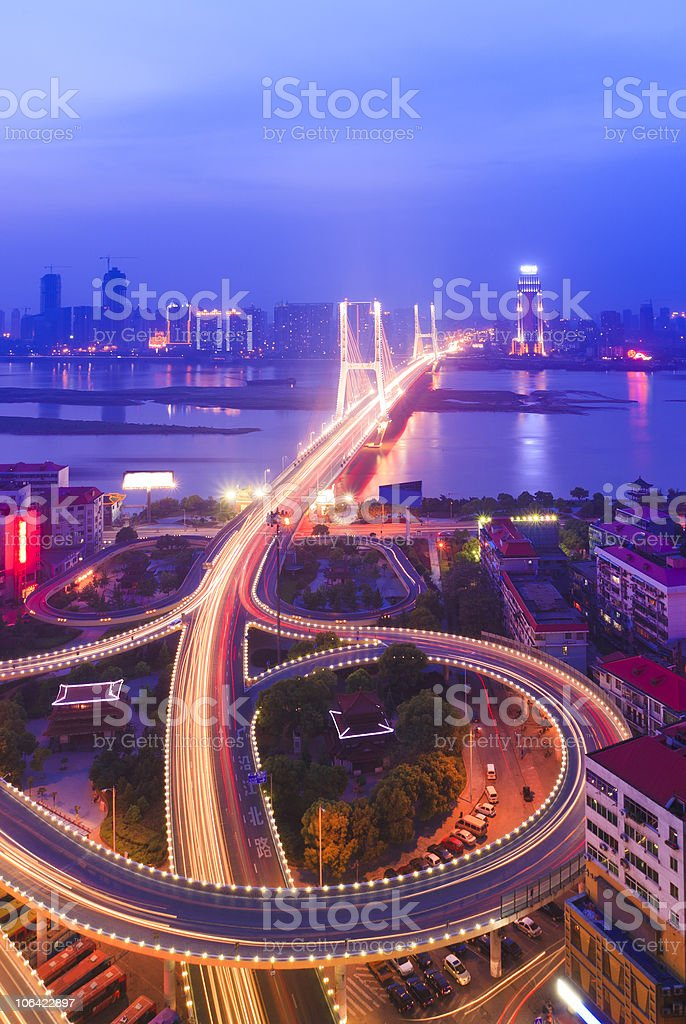 night view of city royalty-free stock photo