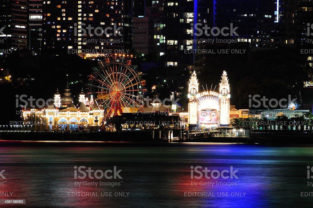Night View of Luna Park stock photo