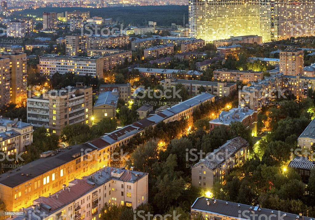 Night view of Moscow royalty-free stock photo