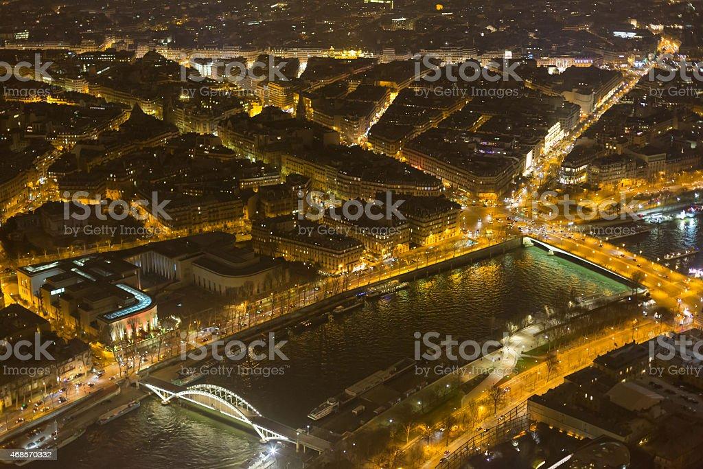 Night view of Paris stock photo