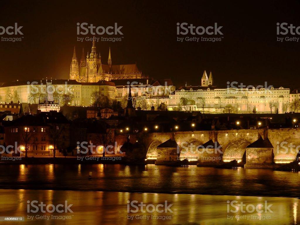 Vue de nuit de la ville photo libre de droits