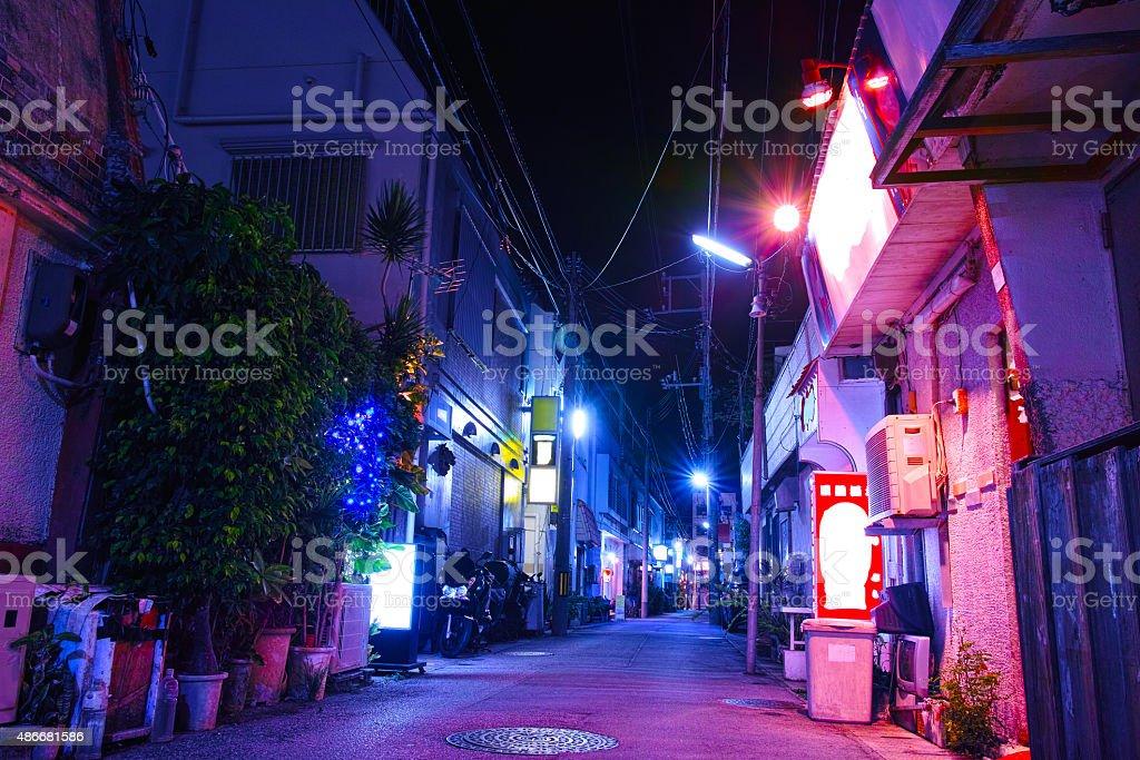 Night view of Ryugu Street stock photo