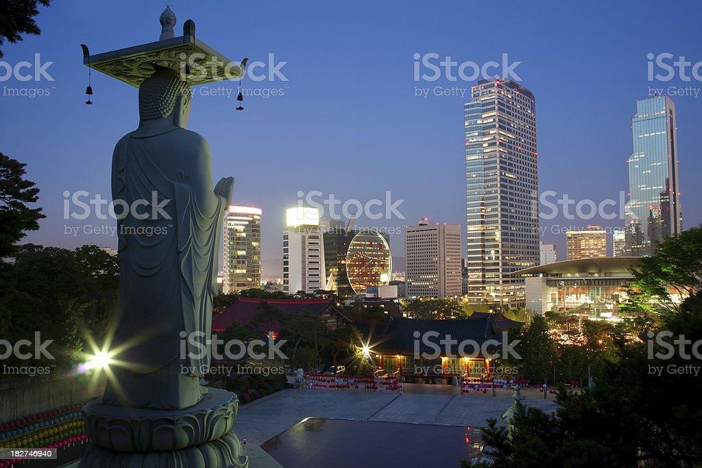 Night view of Seoul stock photo