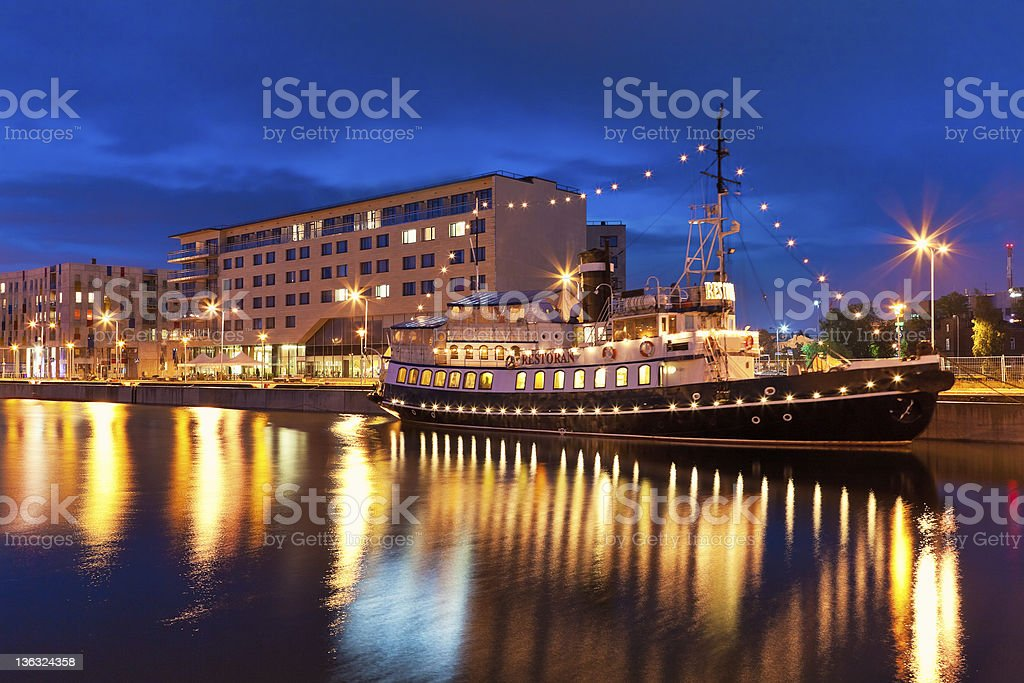 Night view of Tallinn, Estonia royalty-free stock photo