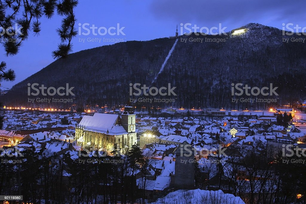 Night view of the Black Church royalty-free stock photo