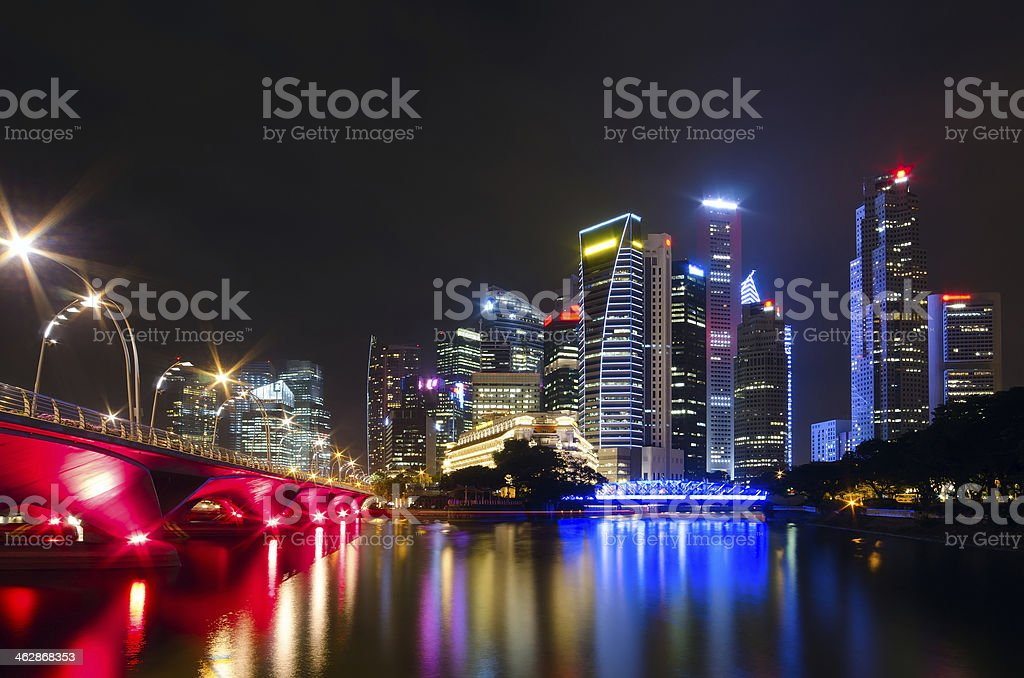 Night view of the city stock photo