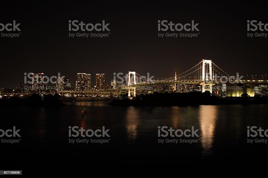 Night view of Tokyo royalty-free stock photo