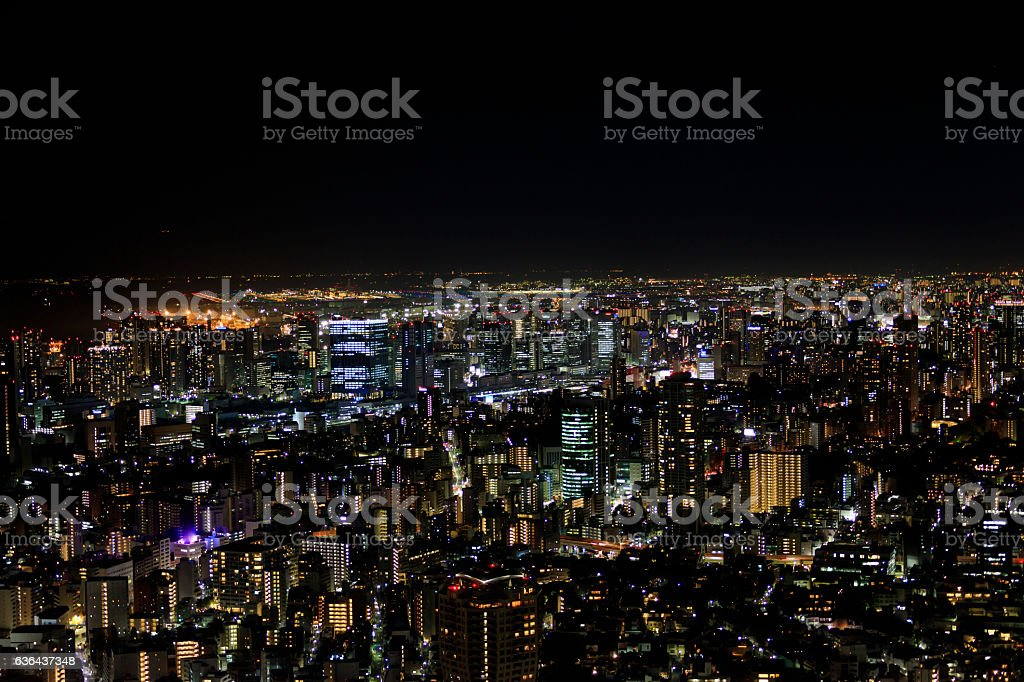 Night view of Tokyo stock photo