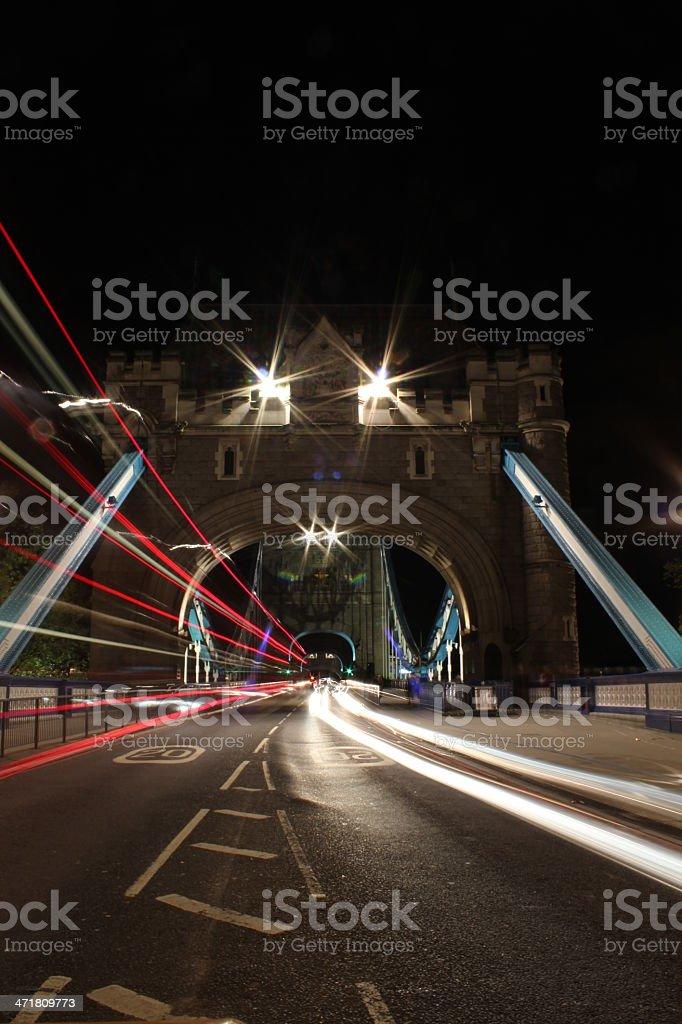 Night view of Tower bridge royalty-free stock photo