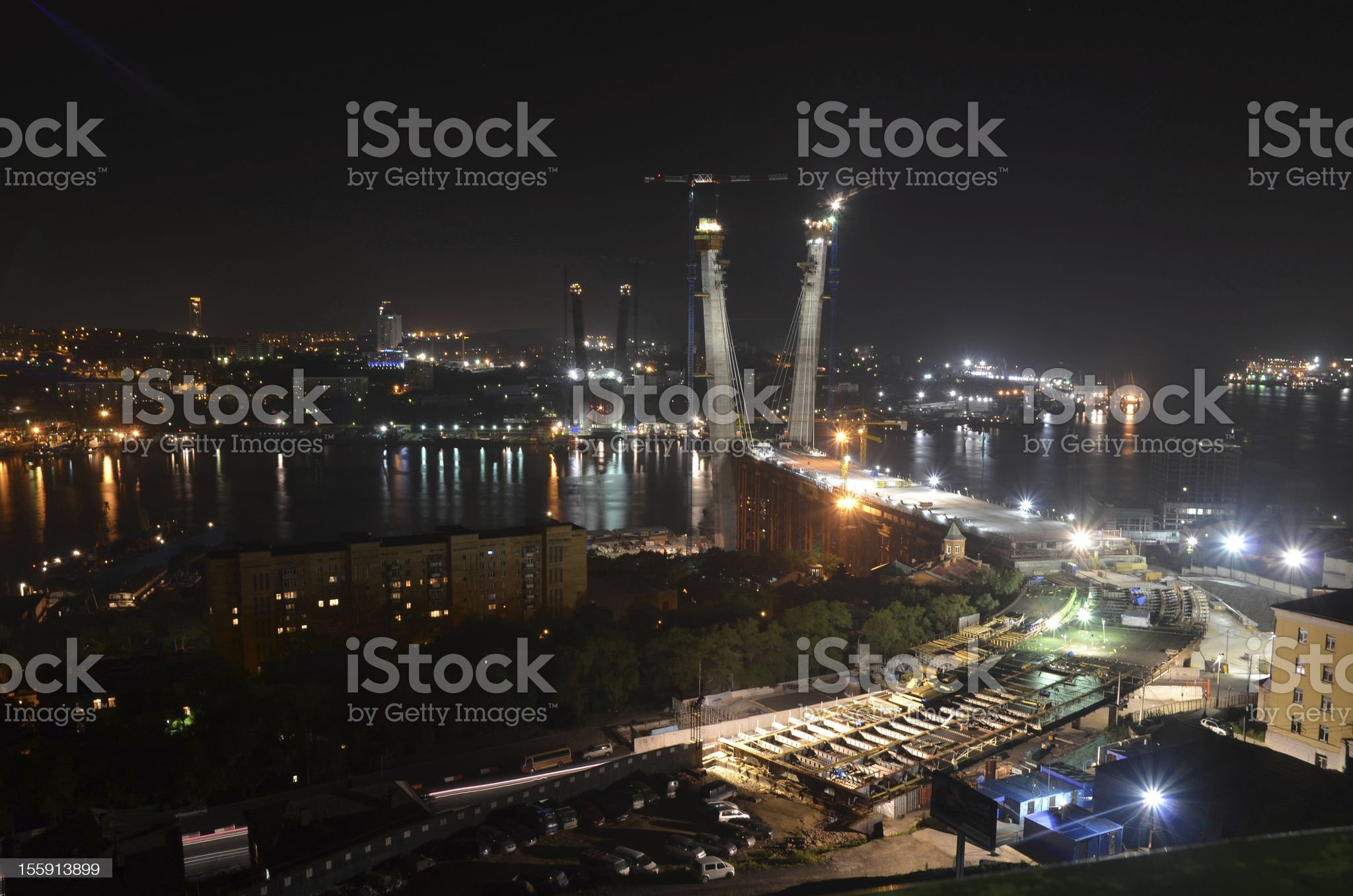 Night view of Vladivostok royalty-free stock photo