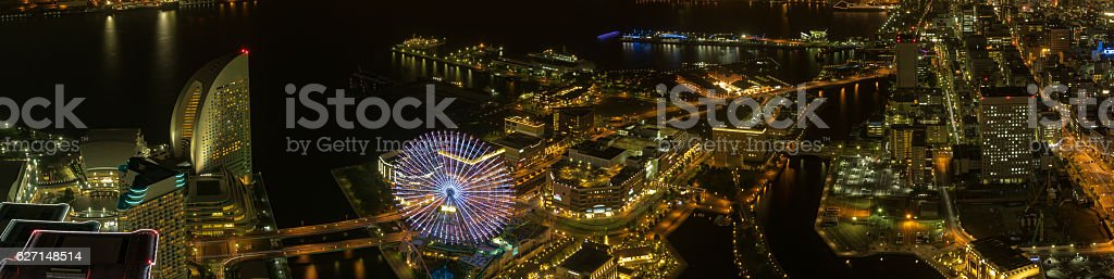 Night view of Yokohama royalty-free stock photo