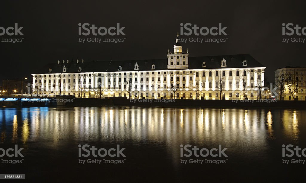 Night view on big building royalty-free stock photo