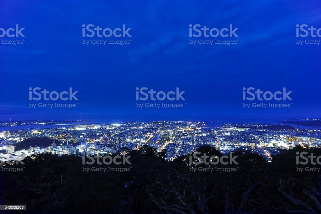 night view(Bizan, Tokushima Pref.) stock photo
