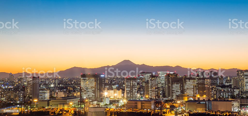 night view,Tokyo, Japan. stock photo