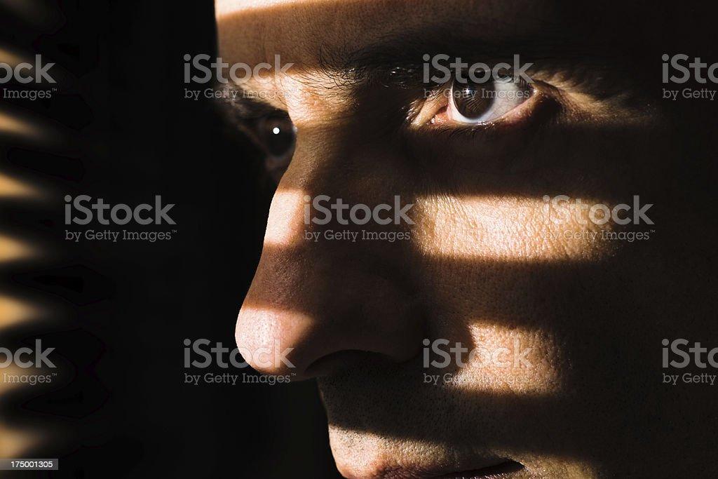 Night watcher stock photo