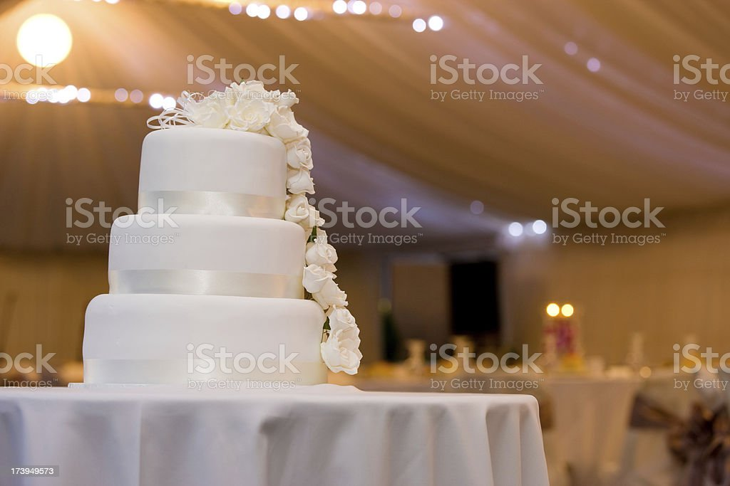 Night Wedding Cake royalty-free stock photo
