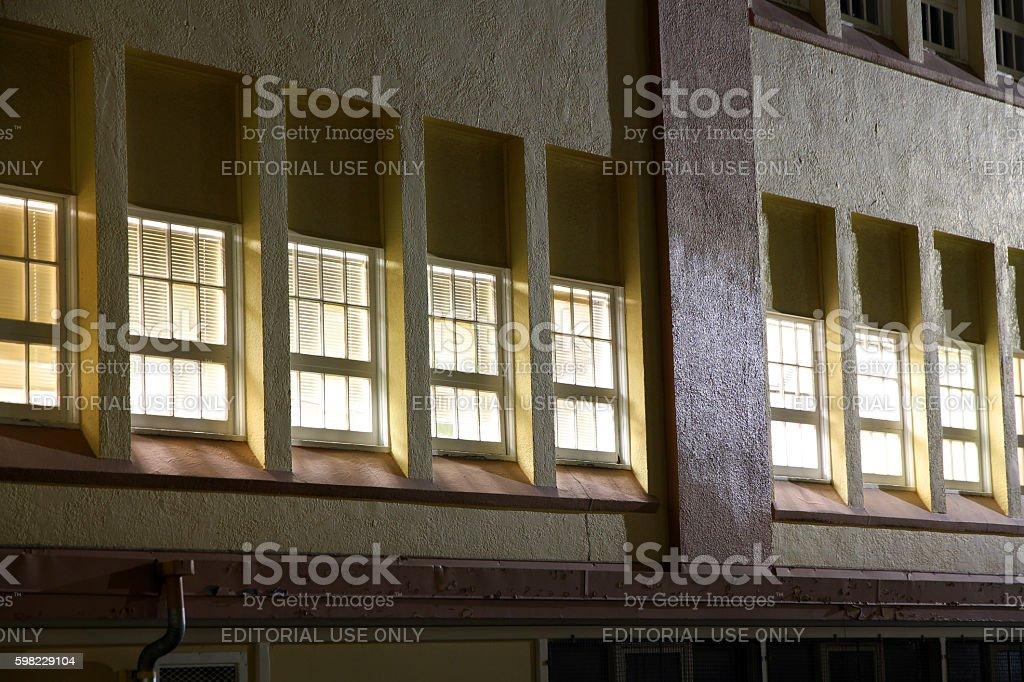 Night Windows stock photo