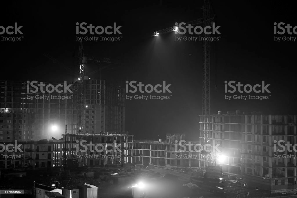 Night work royalty-free stock photo
