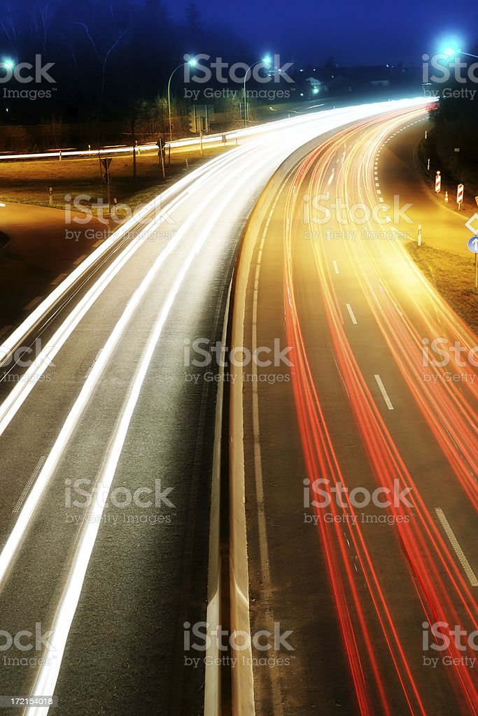 night_highway 05 royalty-free stock photo